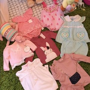 6-12 Months Girl's 7 Item Spring Clothing Sets